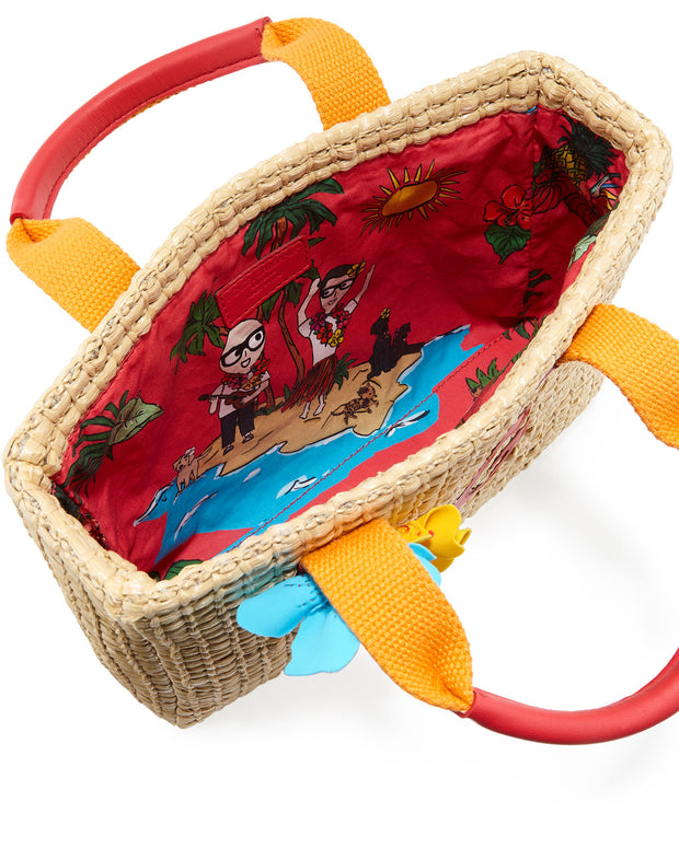 Kids' Mare Woven Straw Top-Handle Bag by DOLCE & GABBANA