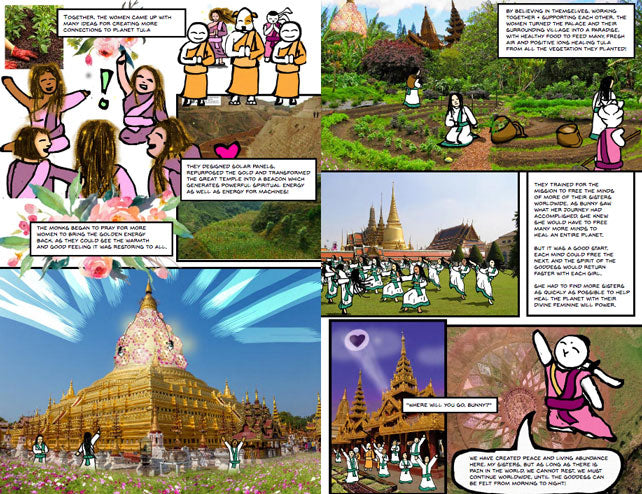"""Princess Bunny Butana: Origins"" Comic Book #1 - Bunny Buddha"