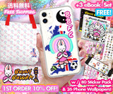 Spring Footballer Bag / Phone Case Bundle + FREE Digi BB Pack - Bunny Buddha