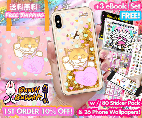 Spring Bag / Glitter Phone Case Bundle + FREE Digi BB Pack - Bunny Buddha