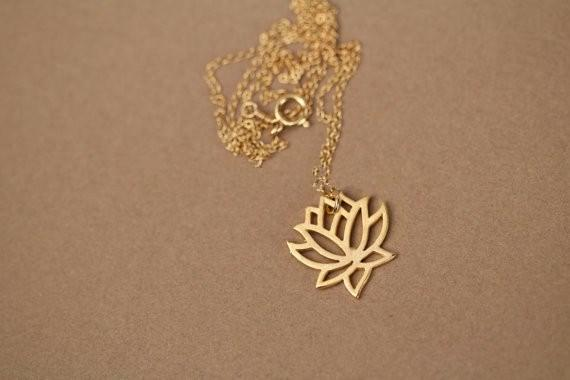 Bunny Buddha™ Gold Lotus Necklace - Bunny Buddha