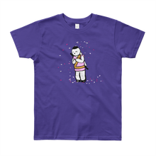 Load image into Gallery viewer, Bunny Bow Youth Short Sleeve T-Shirt - Bunny Buddha