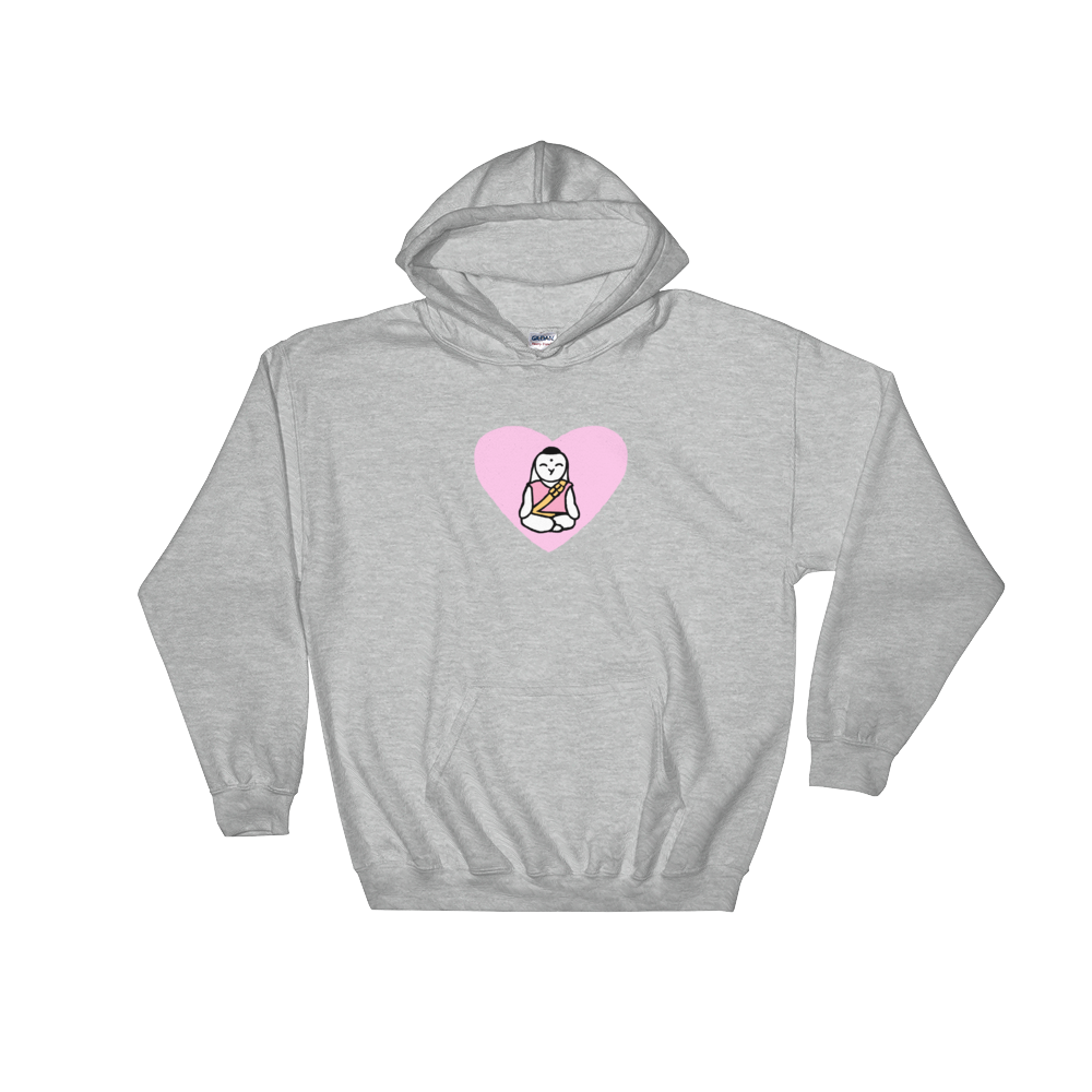 Bunny Lotus Hooded Sweatshirt - Bunny Buddha