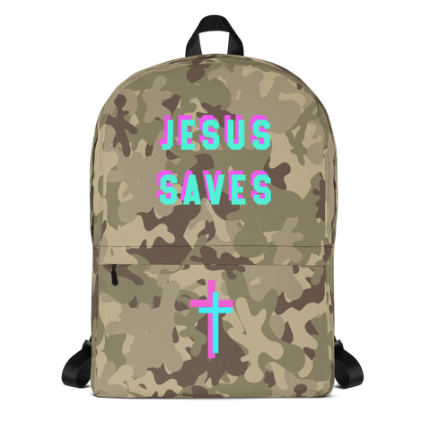 Jesus Saves Backpack - Bunny Buddha