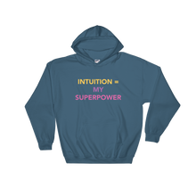 Load image into Gallery viewer, Intuition = My Superpower Hooded Sweatshirt - Bunny Buddha