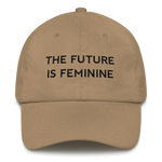 The Future Is Feminine Dad hat Black - Bunny Buddha