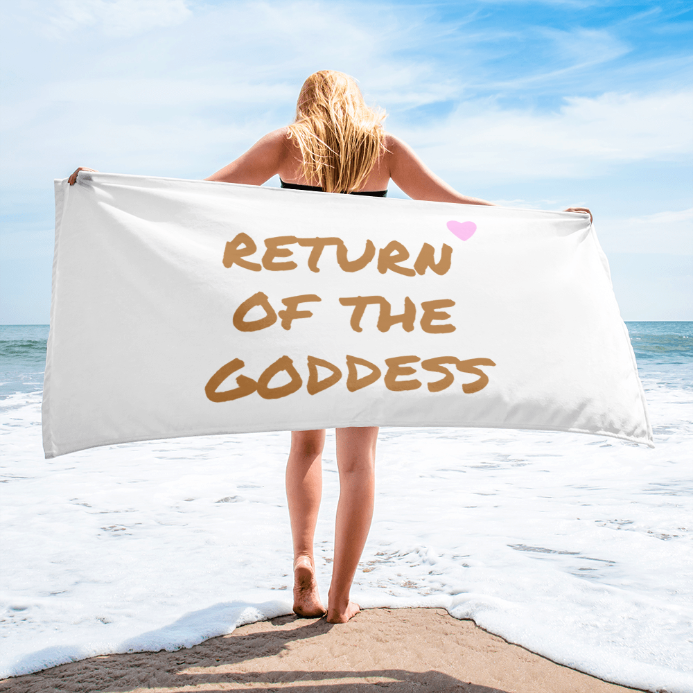 Return of the Goddess Beach Towel - Bunny Buddha