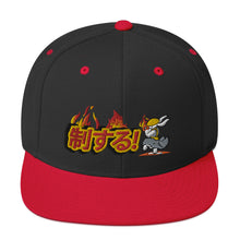 Load image into Gallery viewer, Grey Snapback Hat - Bunny Buddha