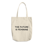 The Future Is Feminine Cotton Tote Bag - Bunny Buddha