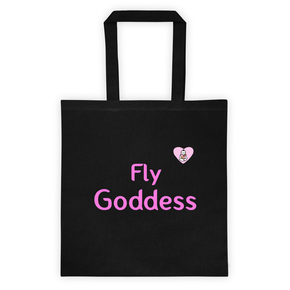 Fly Goddess w/ Heart Tote Bag - Bunny Buddha