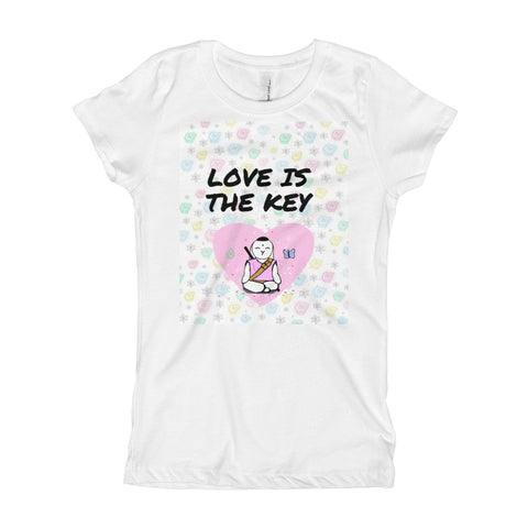 Love is the Key Girl's T-Shirt - Bunny Buddha