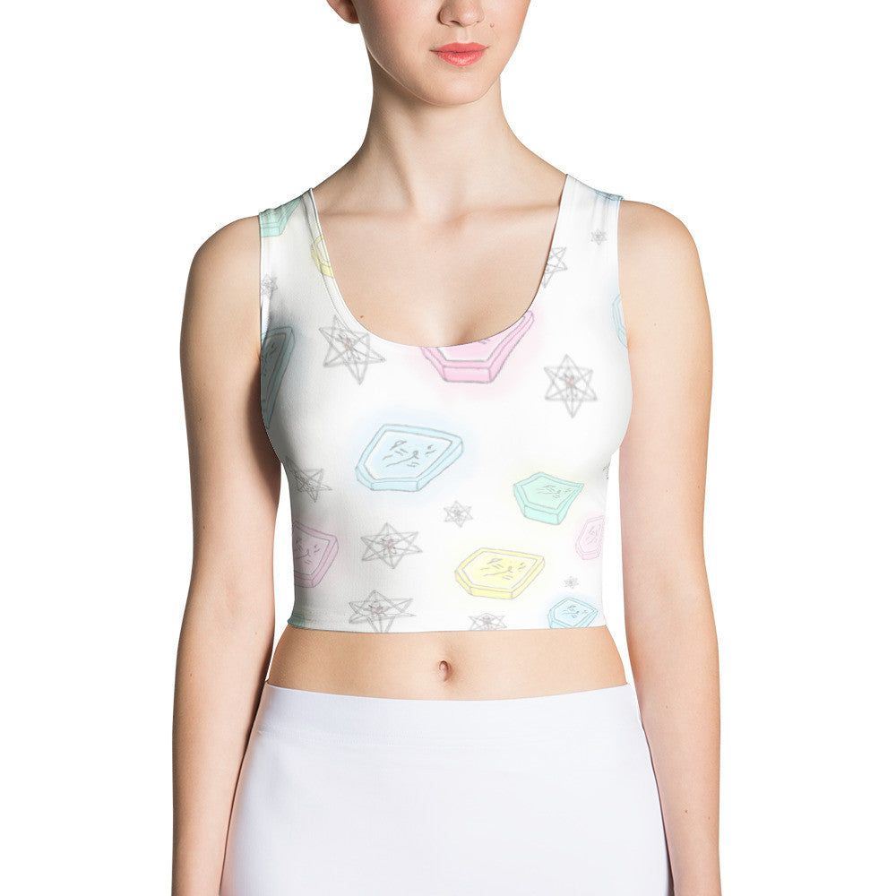 Sublimation Cut & Sew Crop Top - Bunny Buddha