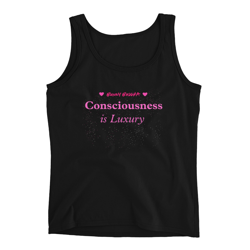 Consciousness is Luxury <3 Ladies' Tank - Bunny Buddha