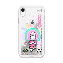 Load image into Gallery viewer, Focus Liquid Glitter Phone Case - Bunny Buddha