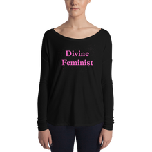 Load image into Gallery viewer, Divine Feminist Ladies' Long Sleeve Tee - Bunny Buddha
