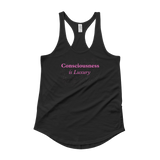 Consciousness is Luxury Ladies' Shirttail Tank - Bunny Buddha