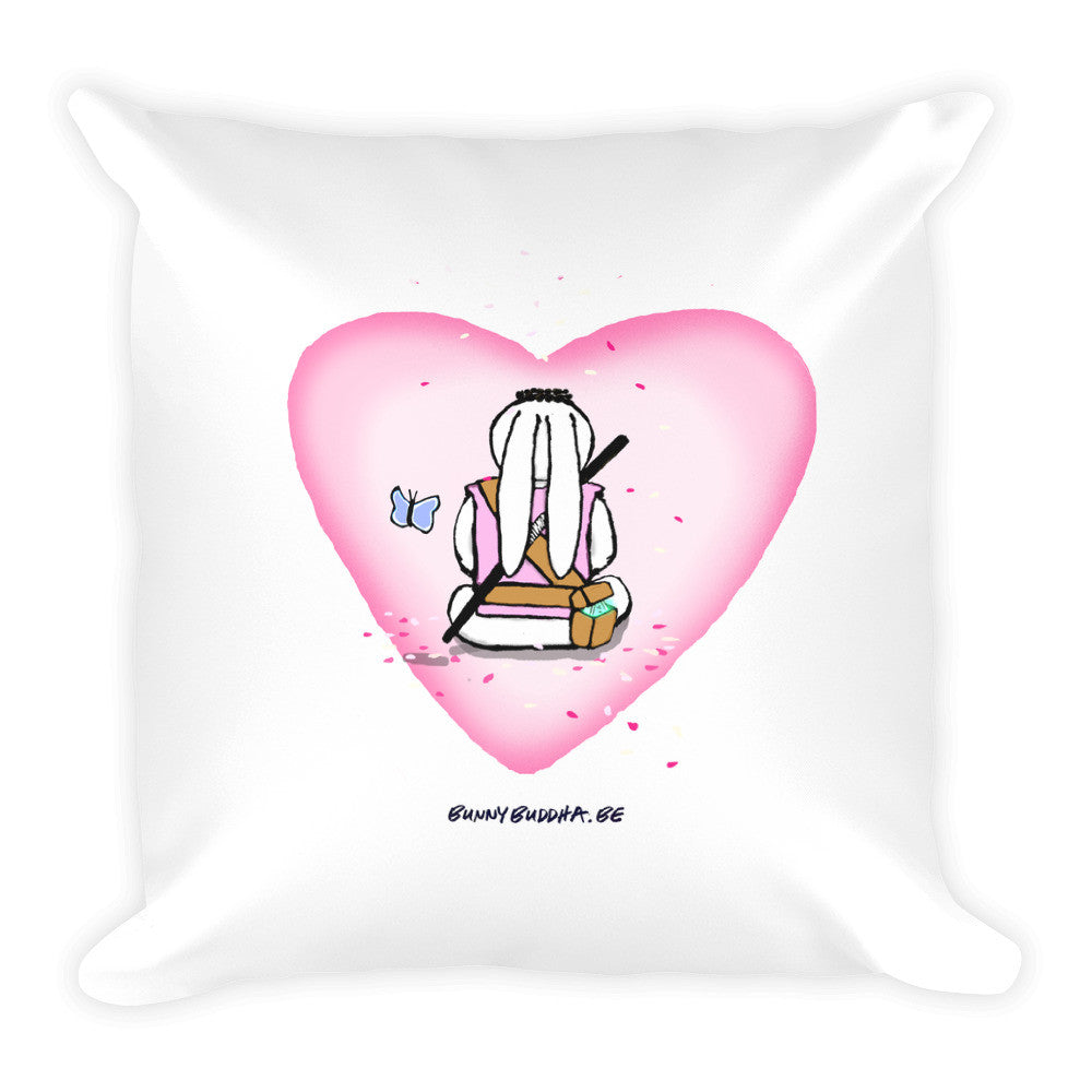 Square Pillow - Bunny Buddha