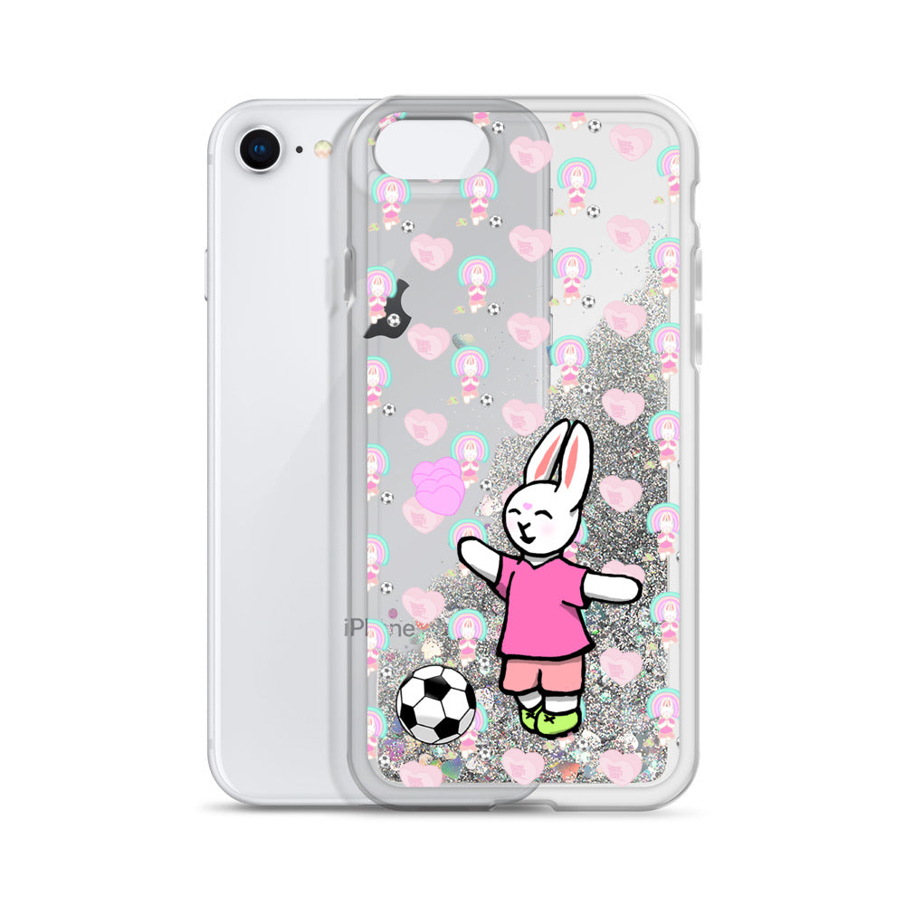 Bunny Hey Liquid Glitter Phone Case - Bunny Buddha