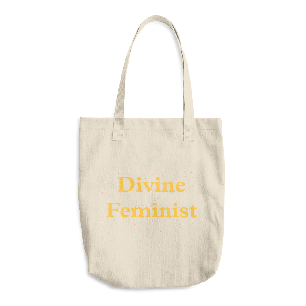 Divine Feminist Cotton Tote Bag Yellow - Bunny Buddha