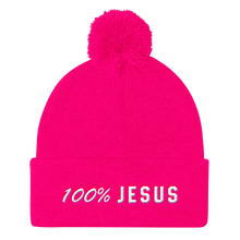 Load image into Gallery viewer, 100% Jesus Pom Pom Knit Cap - Bunny Buddha