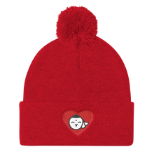 Load image into Gallery viewer, Bunny Buddha Red Pom Pom Knit Cap - Bunny Buddha
