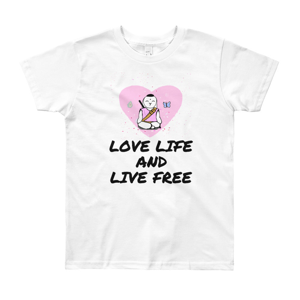 Youth Short Sleeve Love LIfe T-Shirt - Bunny Buddha