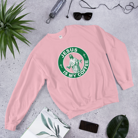Jesus Is My Coffee Sweatshirt - Bunny Buddha