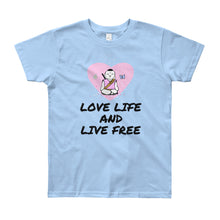 Load image into Gallery viewer, Youth Short Sleeve Love LIfe T-Shirt - Bunny Buddha