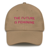 The Future Is Feminine Dad Hat Pink - Bunny Buddha