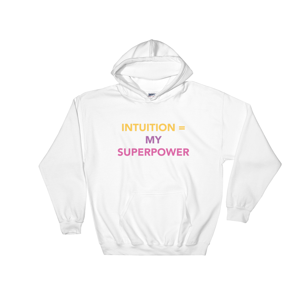 Intuition = My Superpower Hooded Sweatshirt - Bunny Buddha