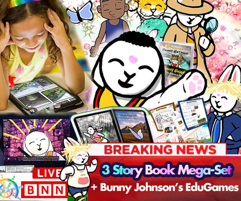 "BB's ""Deep Breath Stories"" - eBook Trilogy + 1 Month FREE EduGames - Bunny Buddha"