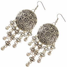 Load image into Gallery viewer, Tibet Silver Flower Small Bells Earrings - Bunny Buddha