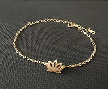 Load image into Gallery viewer, Bunny Buddha™ Gold Lotus Charm Bracelet - Bunny Buddha