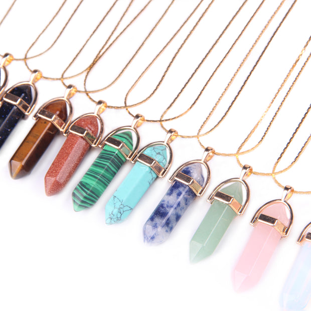 Earth Energy Gold Set Crystal Necklace - Bunny Buddha