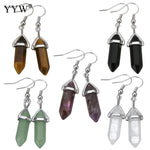 Quartz Earth Energy Crystal Earrings - Bunny Buddha