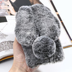 Fluffy Rabbit Ears iPhone Case - Bunny Buddha