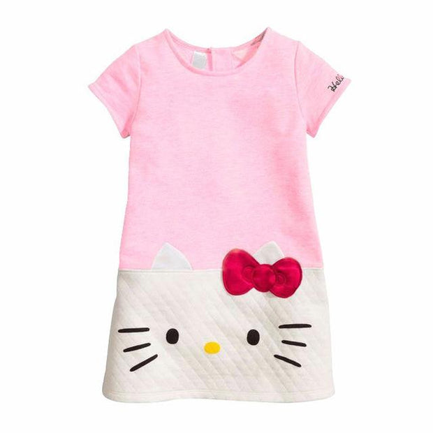 3-7 Years Hello Kitty Dress + FREE Watch - Bunny Buddha