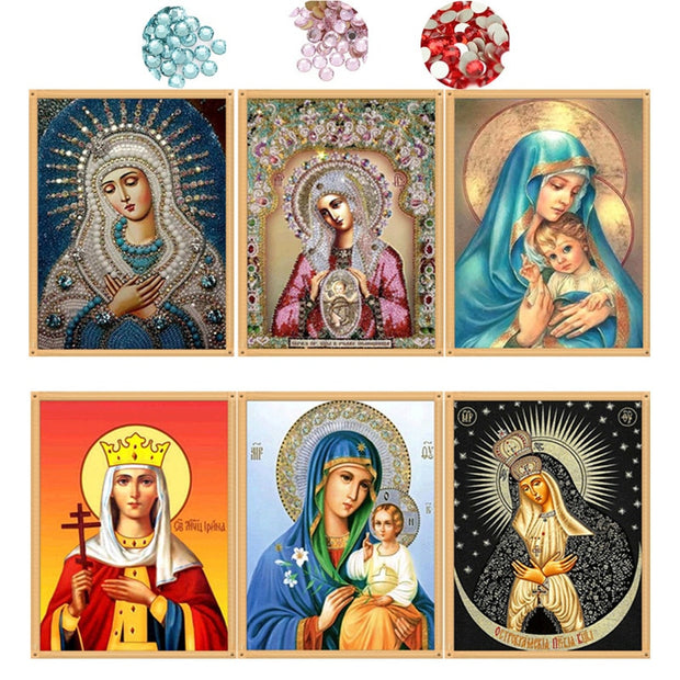 Beautiful Gem Divine Mother Puzzles + Paintings - Bunny Buddha
