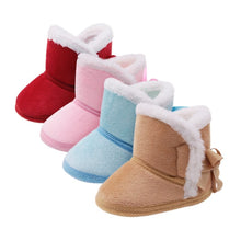 Load image into Gallery viewer, Ruski Faux-Fur Baby Booties - Bunny Buddha