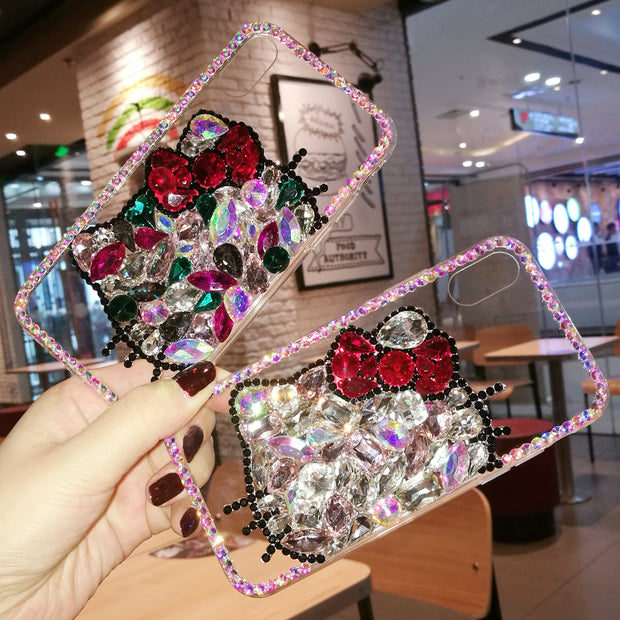 Rhinestone Hello Kitty Phone Cases - Samsung - Bunny Buddha
