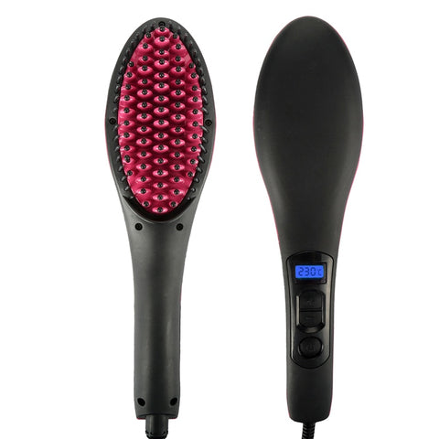 Hair Straightener Brush w/ LCD Display - Bunny Buddha