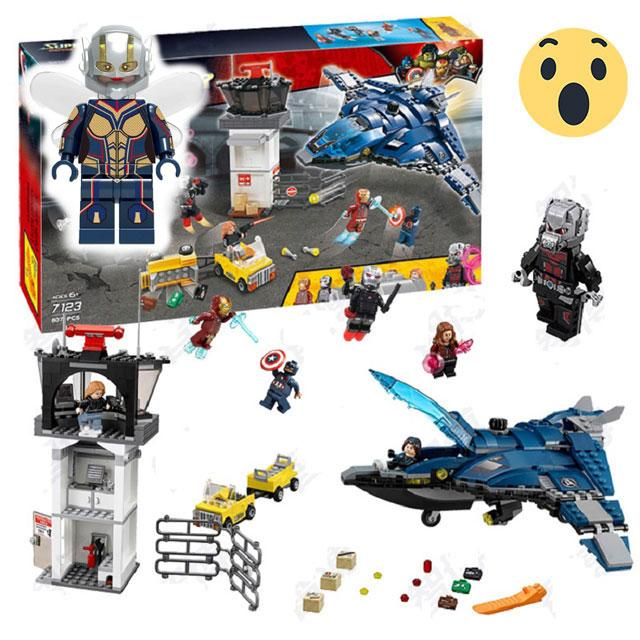Avengers Airport Battle w/ Giant Ant Man + Free Wasp - Bunny Buddha