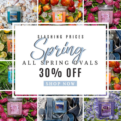 30% off Spring Collection - Oval 8oz scented jars