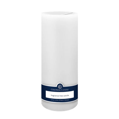 3x9in Unscented Pillar Candle White, 3x9in Pillar, Colonial Candle