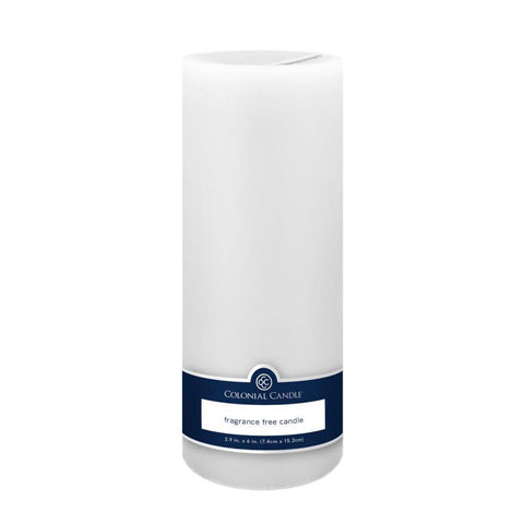 3x9in Unscented Pillar Candle White - Colonial Candle