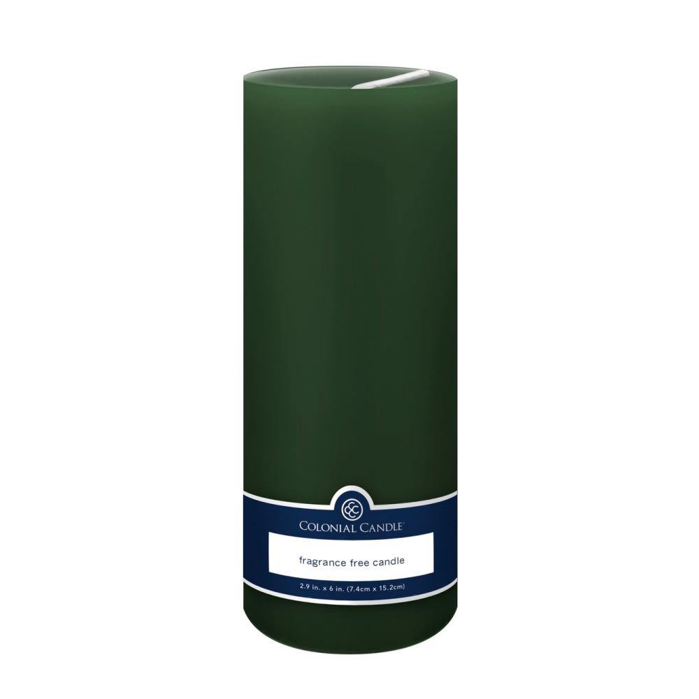 3x9in Unscented Pillar Candle Evergreen - Colonial Candle