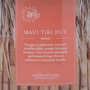 Colonial Candle Scented Jar Candle, Travel Collection, Maui Tiki Hut, 14.5 oz, Single