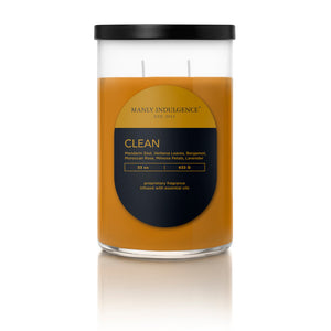 Manly Indulgence Scented Jar Candle, Contemporary Collection - Clean, 22 Oz, Single