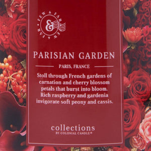 Colonial Candle Scented Jar Candle, Travel Collection, Parisian Garden, 14.5 oz, Single