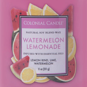 Colonial Candle Classic Cylinder Scented Jar Candle, Watermelon Lemonade, 11 oz, Single